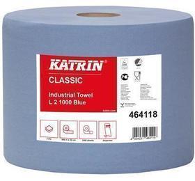 czyściwo przemysłowe katrin 2-warstwowe niebieskie 1000 listków